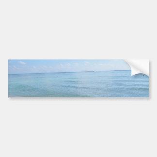sandy white beach bumper sticker