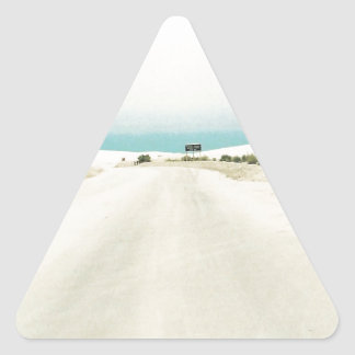 Sandy White Out Triangle Sticker