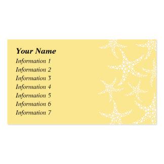 Sandy Yellow and White Starfish Pattern. Business Card