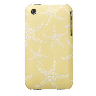 Sandy Yellow and White Starfish Pattern. iPhone 3 Case-Mate Case