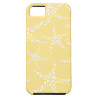 Sandy Yellow and White Starfish Pattern. iPhone 5 Cover