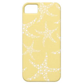 Sandy Yellow and White Starfish Pattern. iPhone 5 Case