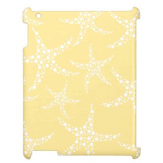 Sandy Yellow and White Starfish Pattern. iPad Case