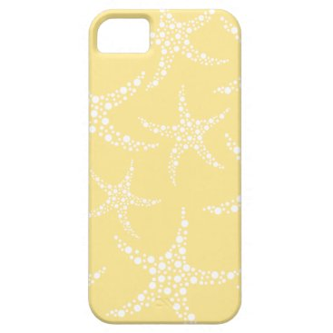 Beach Themed Sandy Yellow and White Starfish Pattern. iPhone SE/5/5s Case