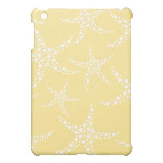 Sandy Yellow and White Starfish Pern. iPad Mini Covers