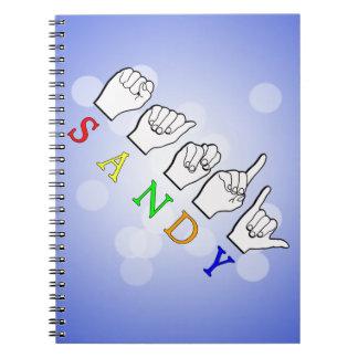 SANDYASL SIGN LANGUAGE NOTEBOOK
