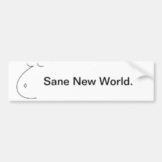 Sane New World - Bumper Sticker.