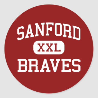 Sanford - Braves - joven - Sanford Maine Pegatina Redonda