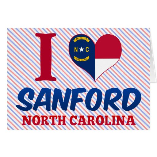 Sanford, Carolina del Norte Tarjeta De Felicitación