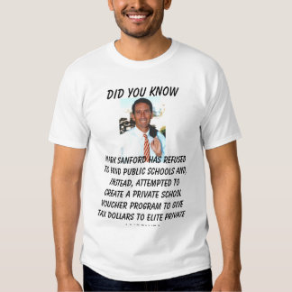 sanford, Did you know, Mark Sanford attempted t... Tee Shirt