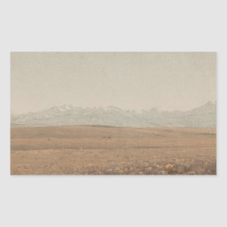 Sanford Robinson Gifford - Longs Peak, Colorado Rectangular Sticker