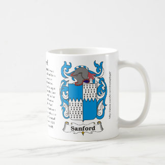 Sanford, the origin, meaning and the crest coffee mug