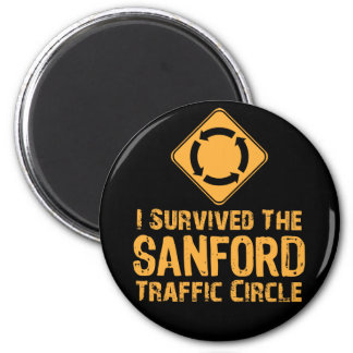 Sanford Traffic Circle 2 Inch Round Magnet