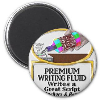 Sanford's Premium TV News Writing Fluid 2 Inch Round Magnet