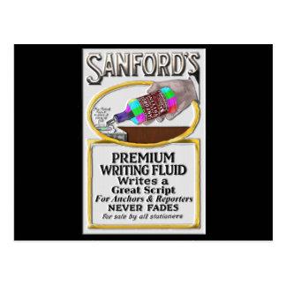 Sanford's Premium TV News Writing Fluid Postcard