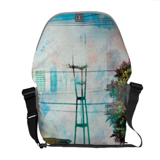 SanFrancisco: The 19th TwinPeaks' World.tif Messenger Bags