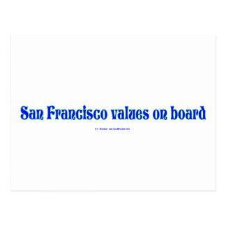SanFranValues Postcard
