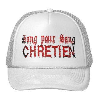 Sang pour sang Chrétien Trucker Hats