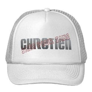 Sang pour Sang Chrétien Oblique rouge métal Trucker Hat