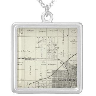 Sanger, California Square Pendant Necklace