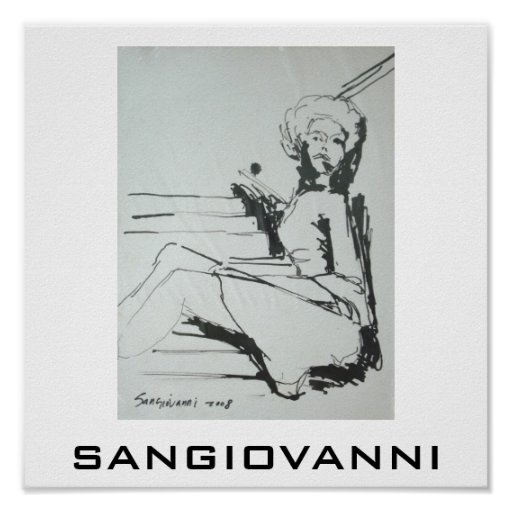 SANGIOVANNI image of a woman Poster