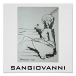 SANGIOVANNI image of a woman Posters