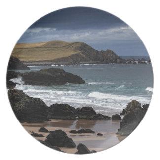 Sango Bay, Sutherland, Scotland Melamine Plate