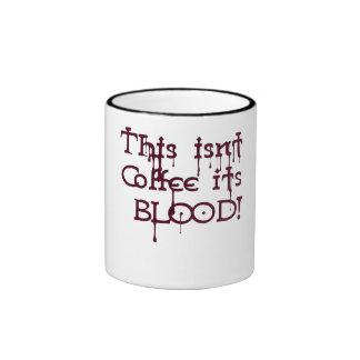 Sangre 2 del café tazas