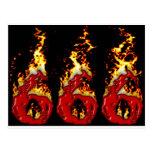 Sangre 666 y fuego postales