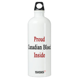 Sangre canadiense orgullosa dentro