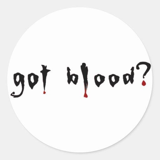 ¿sangre conseguida? pegatina redonda