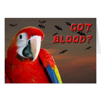 ¿Sangre conseguida? Tarjeta De Felicitación
