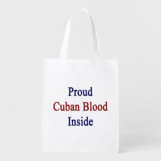 Sangre cubana orgullosa dentro bolsas reutilizables