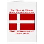 Sangre danesa y cerveza Viking Tarjeta De Felicitación