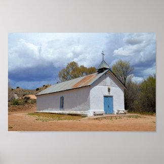 Sangre de Cristo Chapel in Cuartelez, New Mexico Poster