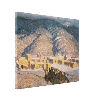 Sangre de Cristo Mountains by Blumenschein Canvas Print