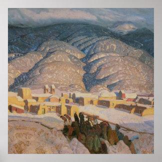 Sangre de Cristo Mountains by Blumenschein Poster