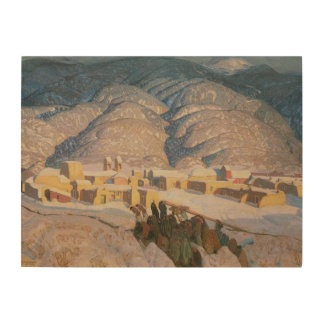 Sangre de Cristo Mountains by Blumenschein Wood Wall Art