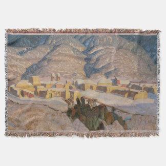 Sangre de Cristo Mountains by Blumenschein Throw Blanket