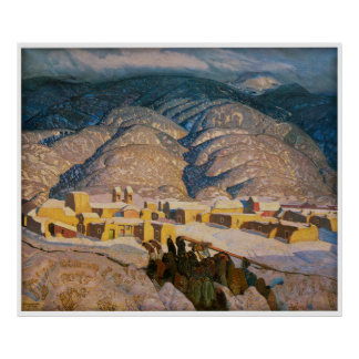 Sangre de Cristo Mountains painted 1925 Poster