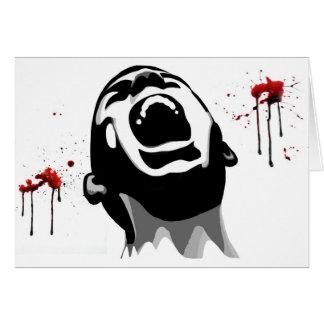 Sangre de griterío tarjeta de felicitación