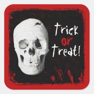 Sangre de Halloween y pegatina del truco o de la i