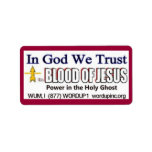 Sangre de la etiqueta de Jesús Avery Etiqueta De Dirección