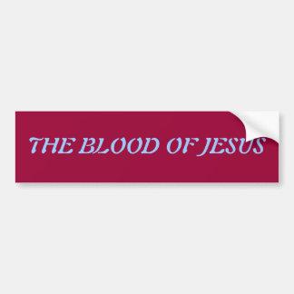 Sangre de la pegatina para el parachoques de Jesús Pegatina De Parachoque