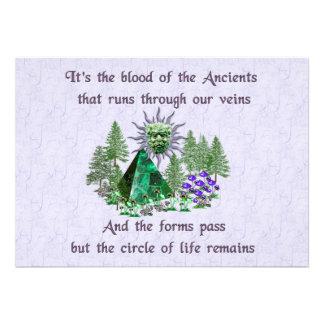 Sangre de los Ancients Comunicados Personalizados