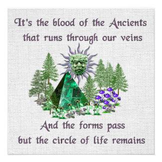 Sangre de los Ancients Invitación