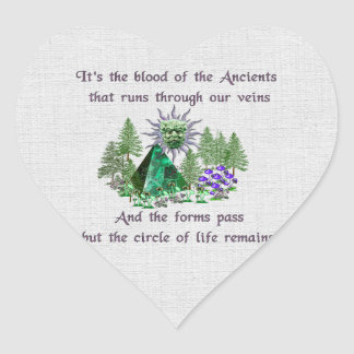 Sangre de los Ancients Pegatina En Forma De Corazón