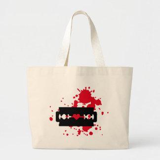 Sangre del amor de la hoja de afeitar bolsas de mano