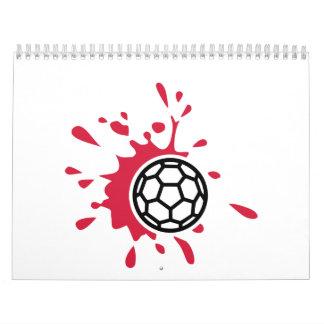 Sangre del balonmano calendarios de pared