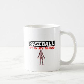 Sangre del béisbol taza de café